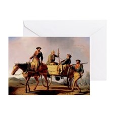 Veterans of 1776 Returing from the W Greeting Card