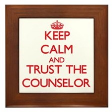 Keep Calm and Trust the Counselor Framed Tile