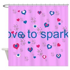 Cute Pink LOVE TO SPARKLE! Shower Curtain