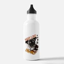 Puggy Love  Water Bottle