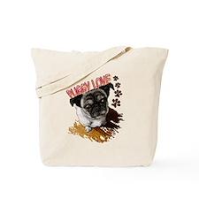 Puggy Love  Tote Bag