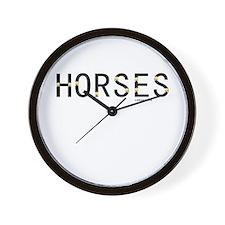 Horse Theme Design #40060 Wall Clock
