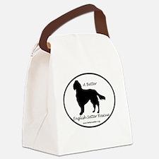Black Logo Canvas Lunch Bag