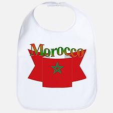 Morocco flag ribbon Bib