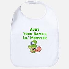 Aunt (Your Names) Lil Monster Bib
