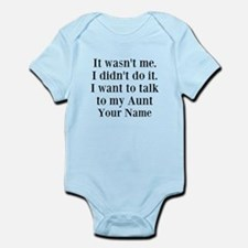 I Want To Talk To My Aunt (Your Name) Body Suit