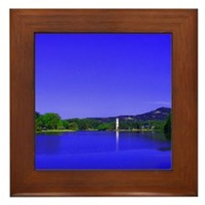 Lake and Bell Tower Framed Tile