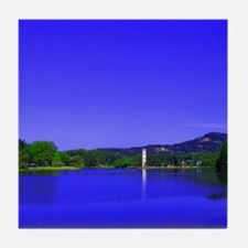 Lake and Bell Tower Tile Coaster