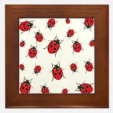 Bright Ladybugs` Framed Tile