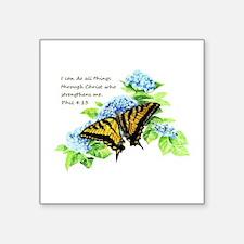 Motivational Scripture Butterfly Hydrengea Flower