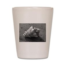 Conch Shell (Black and White) Shot Glass