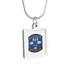 Aviation Boatswain's Mate Silver Square Necklace