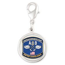 Aviation Boatswain's Mate - NE Silver Round Charm
