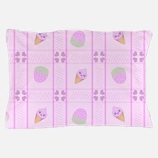 Strawberry Kawaii Ice Cream Cone Bg Pillow Case