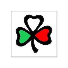 Italian shamrock Oval Sticker
