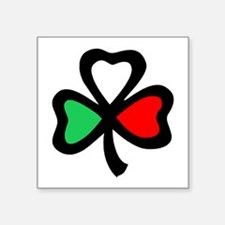 Italian shamrock Oval Sticker