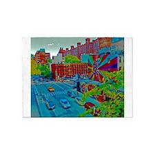 New York Street Scene 5'x7'Area Rug