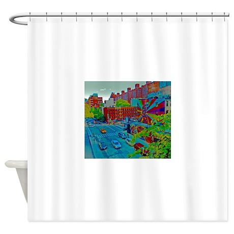 New York Street Scene Shower Curtain By Tompkinsdesignllc
