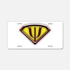 Superhero Psychologist Aluminum License Plate