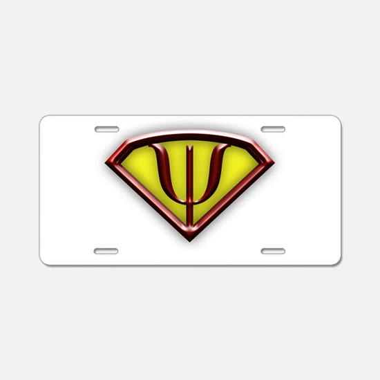 Superhero Psychologist Aluminum License Plate