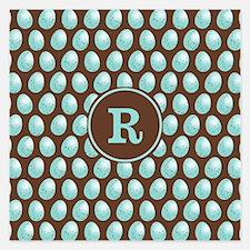 MONOGRAM Robin Egg Pattern Invitations