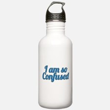 I am so confused Water Bottle