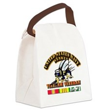 Navy - Seabee - Vietnam Vet Canvas Lunch Bag