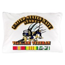Navy - Seabee - Vietnam Vet Pillow Case
