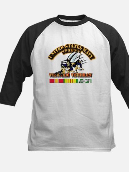 Navy - Seabee - Vietnam Vet Kids Baseball Jersey