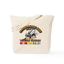 Navy - Seabee - Vietnam Vet Tote Bag