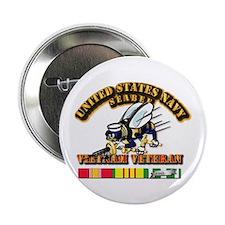 """Navy - Seabee - Vietnam Vet 2.25"""" Button"""