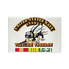 Navy - Seabee - Vietnam Vet Rectangle Magnet