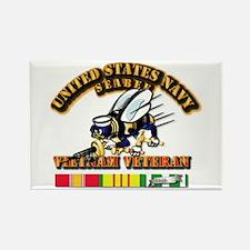 Navy - Seabee - Vietnam Rectangle Magnet (10 pack)