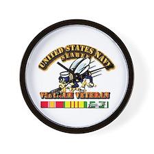 Navy - Seabee - Vietnam Vet Wall Clock