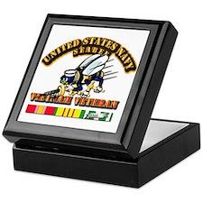 Navy - Seabee - Vietnam Vet Keepsake Box