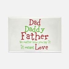 Dad,Daddy,Father Rectangle Magnet
