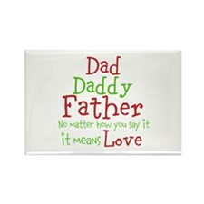 Dad,Daddy,Father Rectangle Magnet (10 pack)
