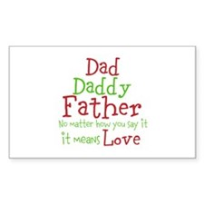 Dad,Daddy,Father Decal