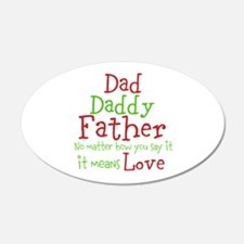Dad,Daddy,Father Wall Decal