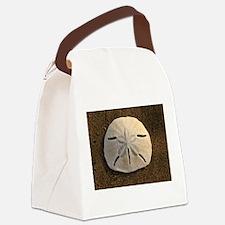 Sand Dollar Seashell Canvas Lunch Bag