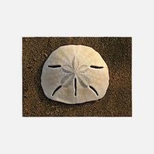 Sand Dollar Seashell 5'x7'Area Rug