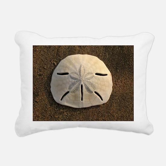 Sand Dollar Seashell Rectangular Canvas Pillow