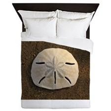 Sand Dollar Seashell Queen Duvet