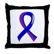 RA Awareness Ribbon 3 Throw Pillow