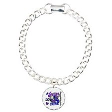 RA Peace Love Cure 2 Charm Bracelet, One Charm