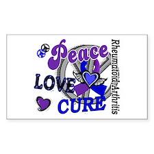 RA Peace Love Cure 2 Decal