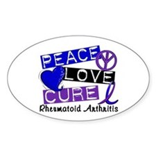 RA Peace Love Cure 1 Decal
