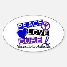 RA Peace Love Cure 1 Decal