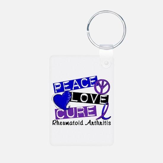 RA Peace Love Cure 1 Aluminum Photo Keychain