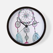 Watercolor Dreamcatcher Wall Clock